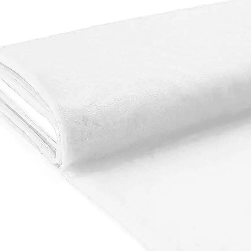 plaquette 25m tulle deco blanc grande largeur
