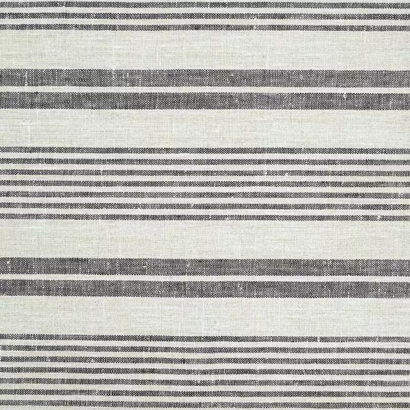 rayures lin naturel tissu de coton