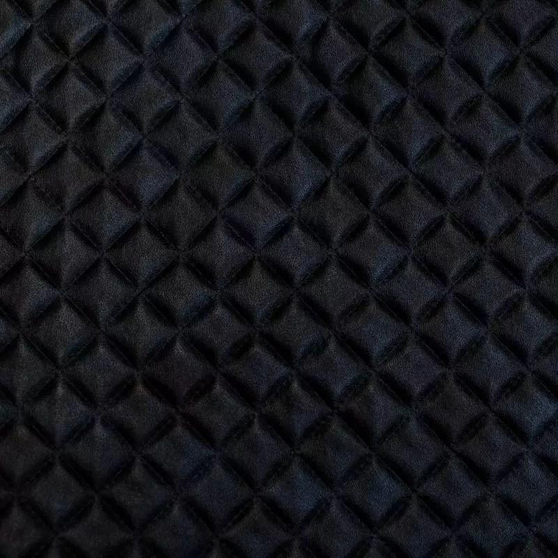 simili cuir bleu marbre noir capitonne