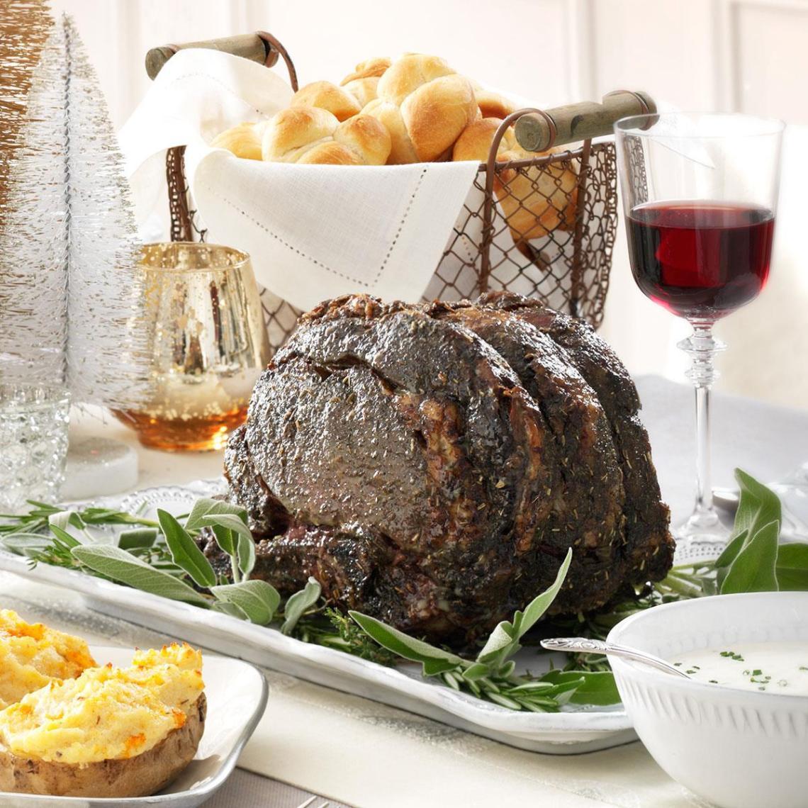 Herbed Roast Beef Recipe | Taste of Home