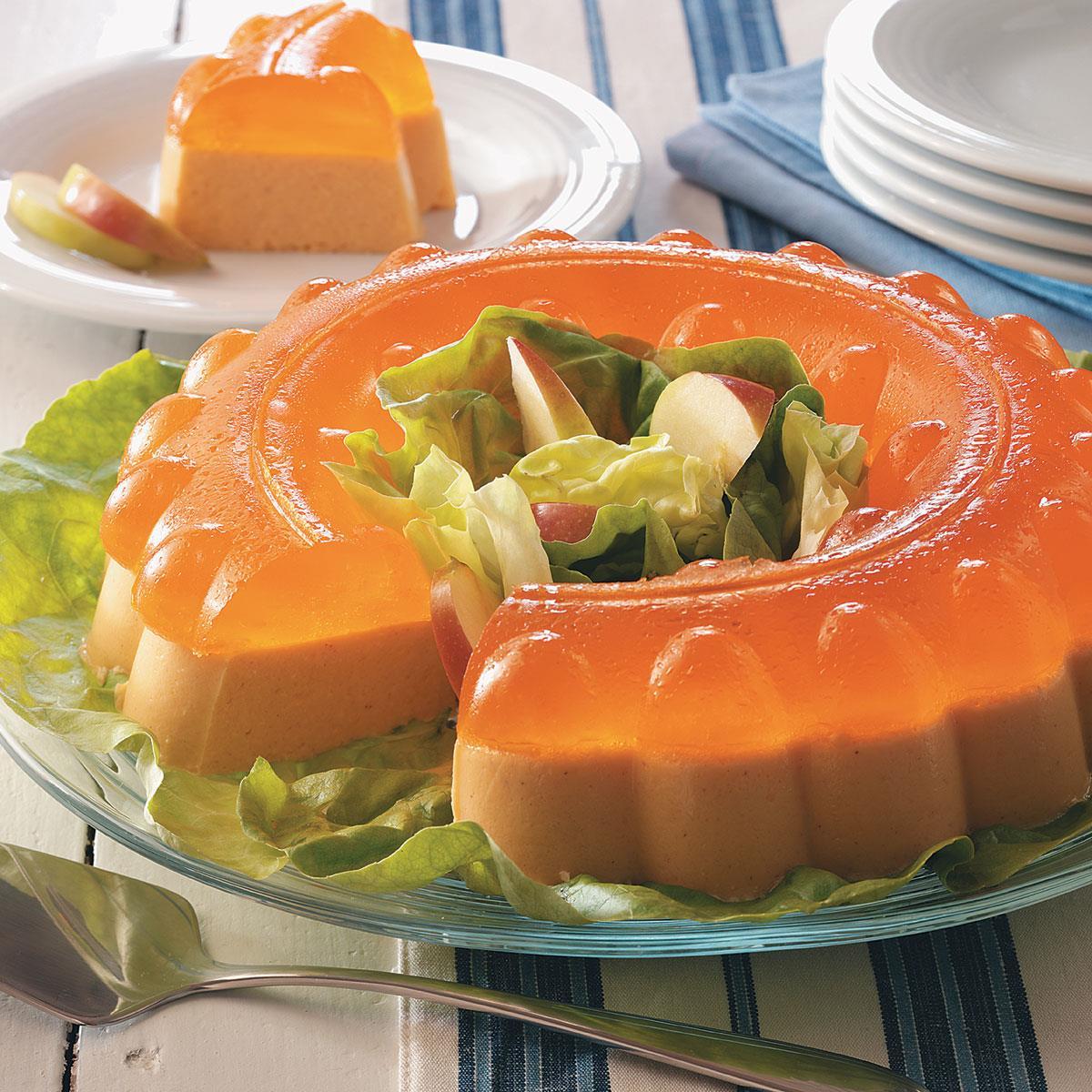 Spiced Orange Gelatin Salad Recipe Taste Of Home