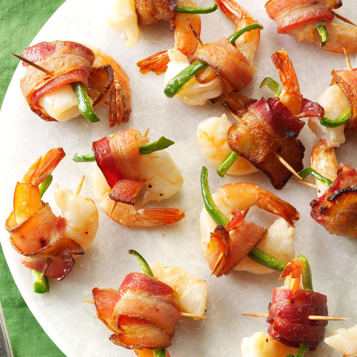 Appetizers Bacon Wrapped Shrimp