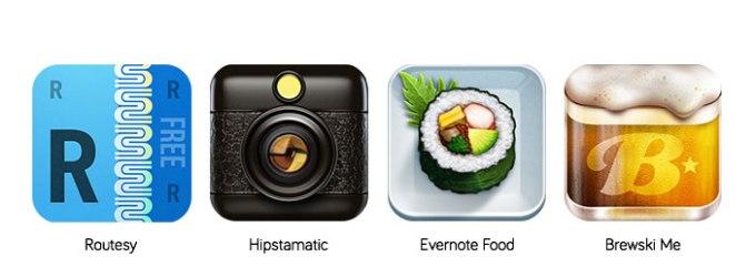 kreatywne ikony na iOS 7