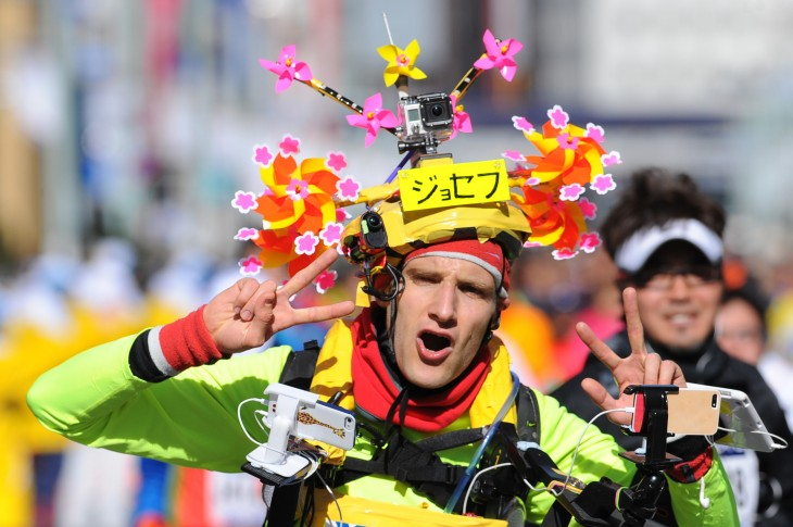 tokyo marathon2014 joseph 730x485 Meet Joseph Tame: Marathon runner, art runner, iRunner