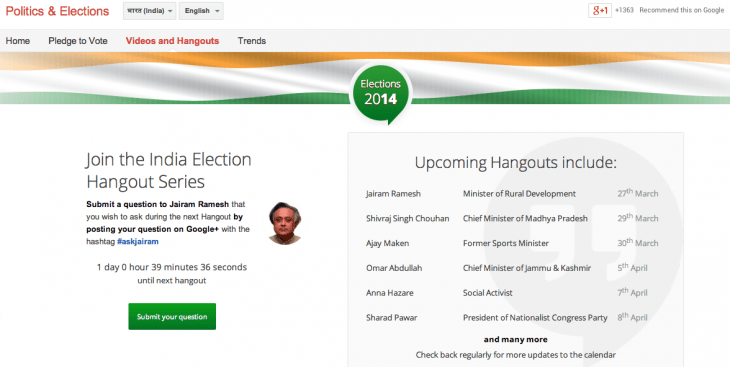 Screen shot 2014 03 26 at PM 04.20.14 730x367 Googles new online tools will keep voters in India and Indonesia informed ahead of upcoming polls