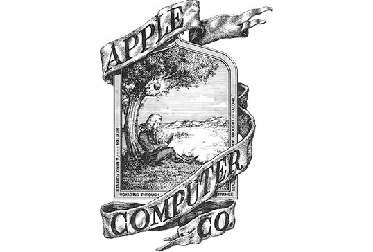 apple original logo 7 tech logos before they became iconic