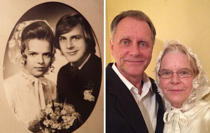 then and now couples recreate old photos love 14 5739d3659bb07  700 - Prima e dopo: 23 coppie ripropongono le loro foto assieme dopo decenni