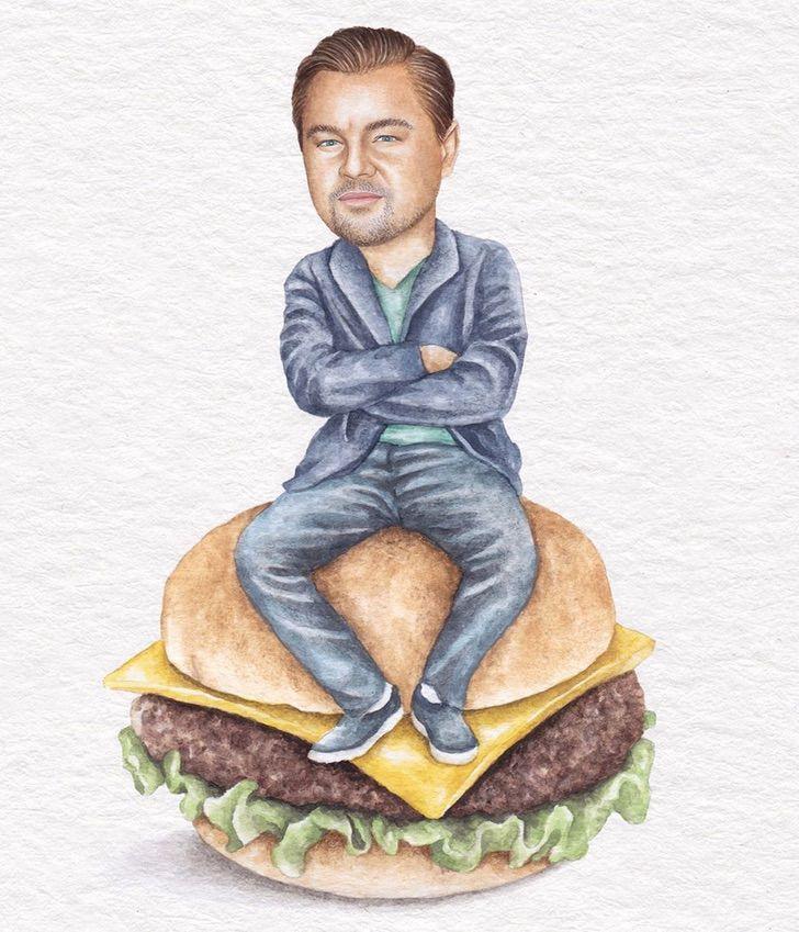 11 7 - Artista abre el apetito con los famosos posando sobre deliciosos sándwiches