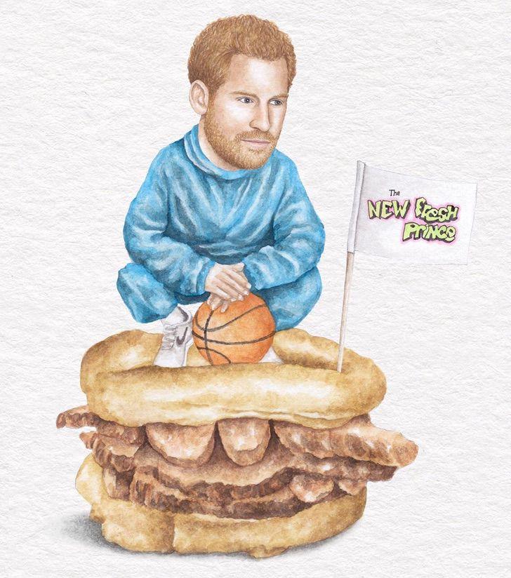 5 17 - Artista abre el apetito con los famosos posando sobre deliciosos sándwiches