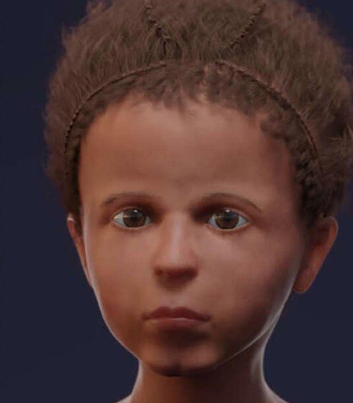 Captura de Pantalla 2020 10 22 a las 13.52.39 - Encontraron una momia con un retrato pegado a la cabeza del ataúd. La tecnología recreó a la niña