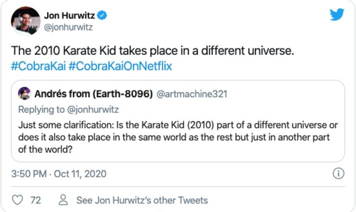 """chan 1 - Jackie Chan no será considerado para actuar en """"Cobra Kai"""". Su Karate Kid no es parte del universo"""