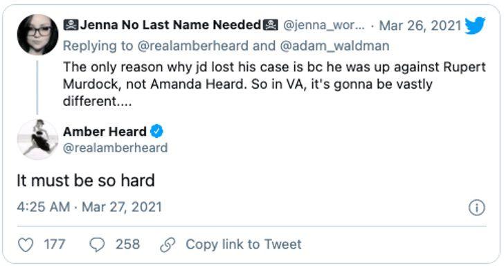 amber heard harta respondio ironia fans johnny depp redes 3 - Amber Heard está harta: respondió con ironía a fans de Johnny Depp en redes. No da su brazo a torcer