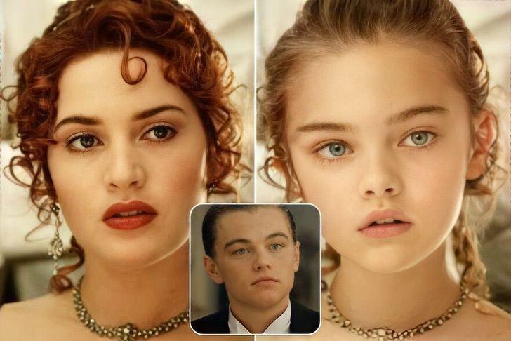 hijos parejas ficticias21 - Así lucirían los hijos de 21 parejas ficticias. La de Jack y Rose, de Titanic, sería una modelo