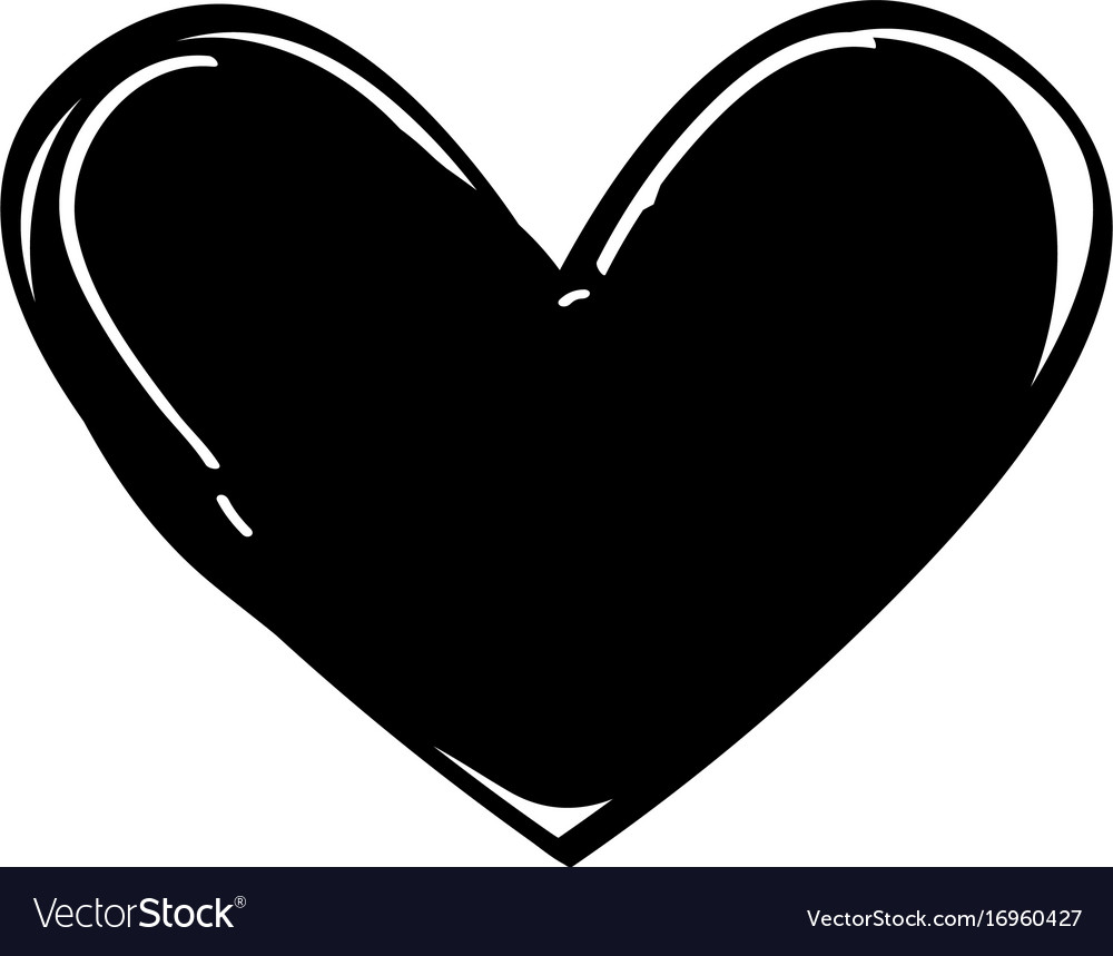 Download Heart love black icon Royalty Free Vector Image