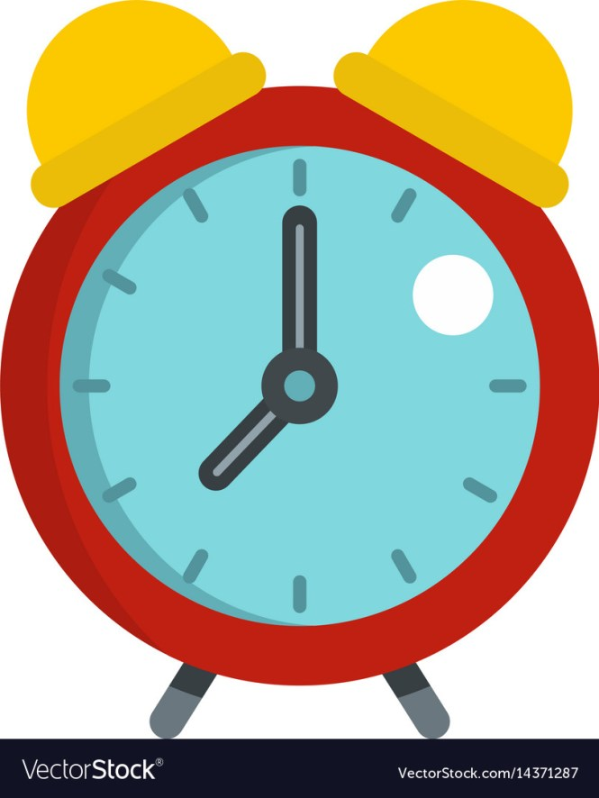 Red Alarm Clock Icon Isolated Royalty