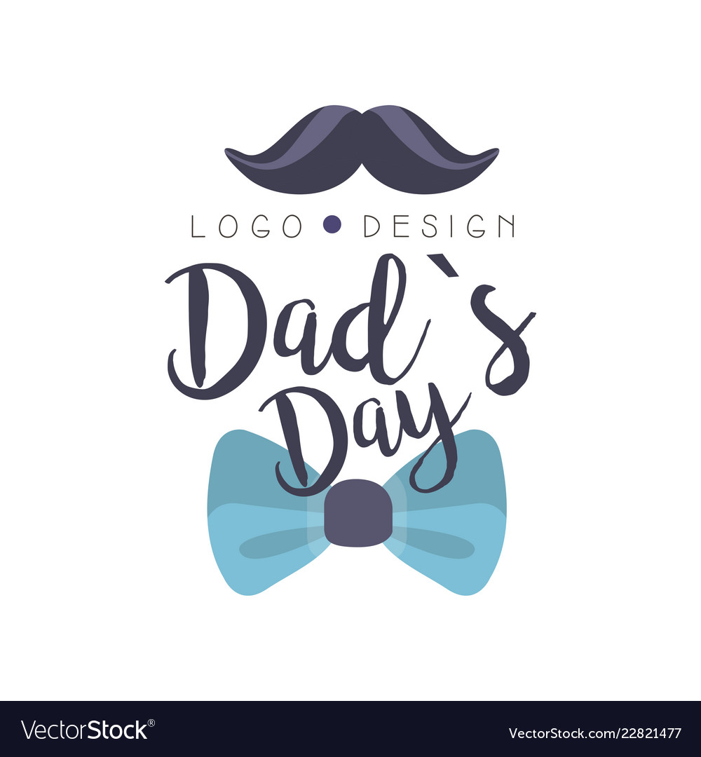 Download Dads day logo design happy fathers day creative Vector Image