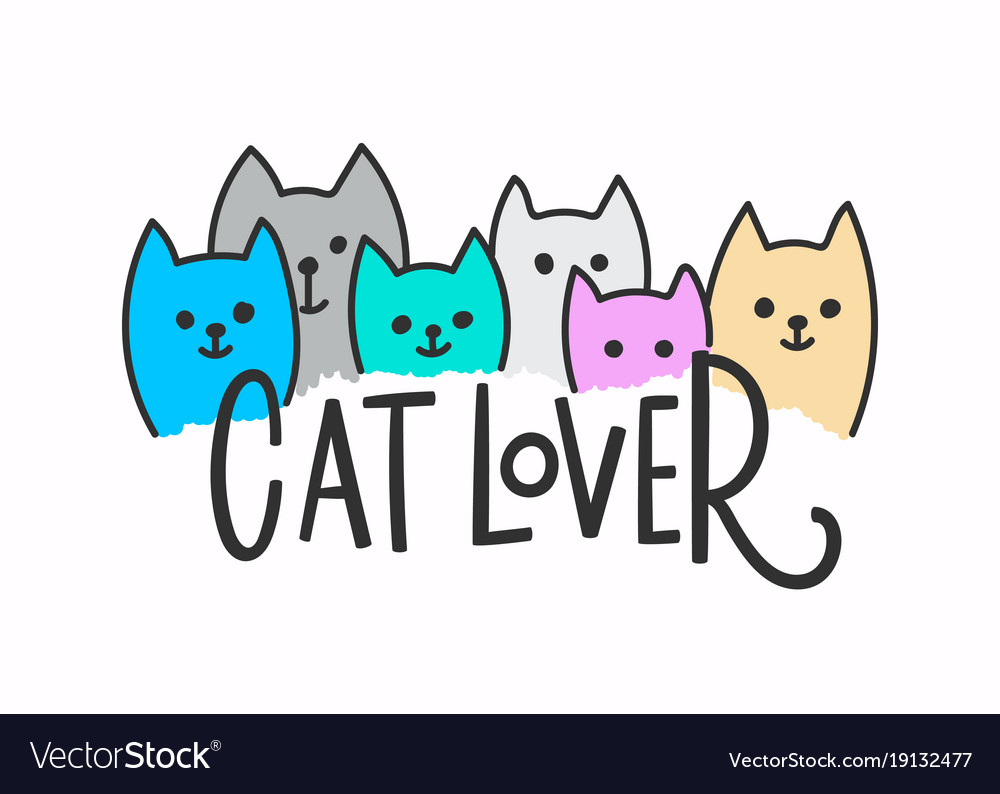 Download Cat lover shirt quote lettering Royalty Free Vector Image