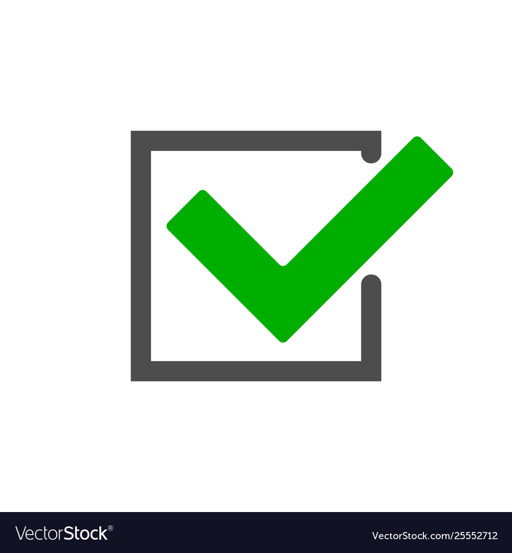 Check mark square Royalty Free Vector Image - VectorStock on ✔  id=62059