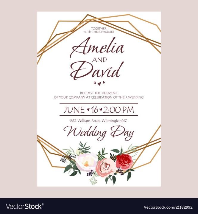 Fl Invite Card Design Vector Image