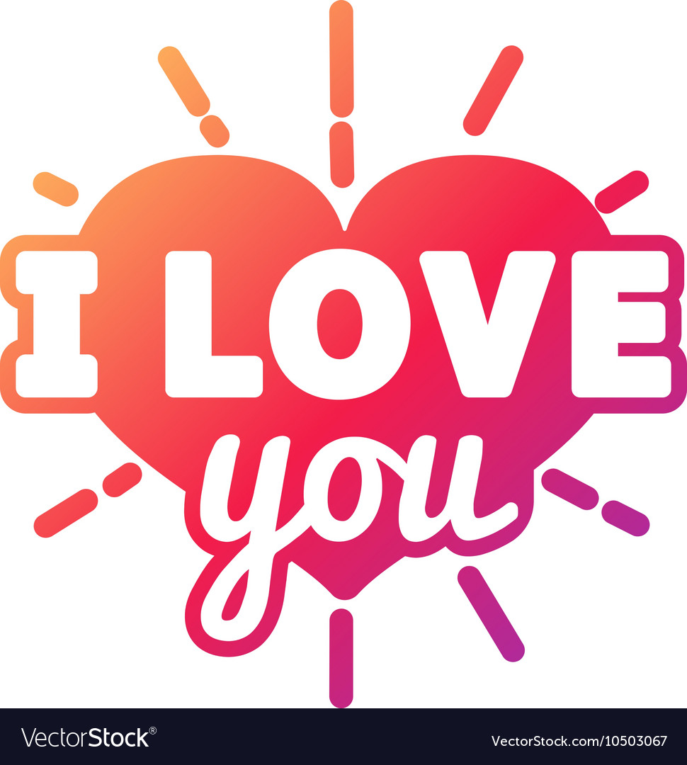 Download I love You logo badge Royalty Free Vector Image