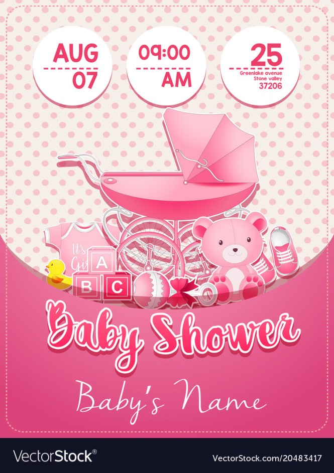 Baby Shower Invitation Template With Toys
