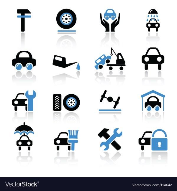 Car service icons Royalty Free Vector Image - VectorStock