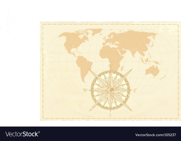 Vintage word map Royalty Free Vector Image   VectorStock Vintage word map vector image