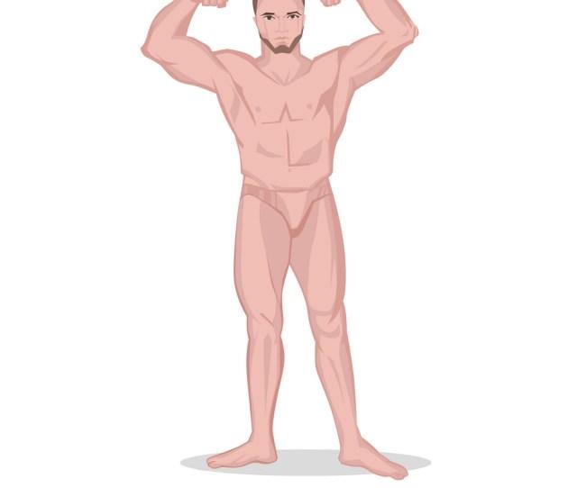 Strong Naked Man Royalty Free Vector Image Vectorstock