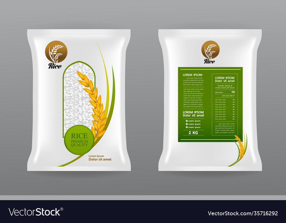 Download free psd mockups smart object and templates to create magazines, books, stationery, clothing, mobile, packaging, business cards,. Premium Rice Product Package Mockup Royalty Free Vector