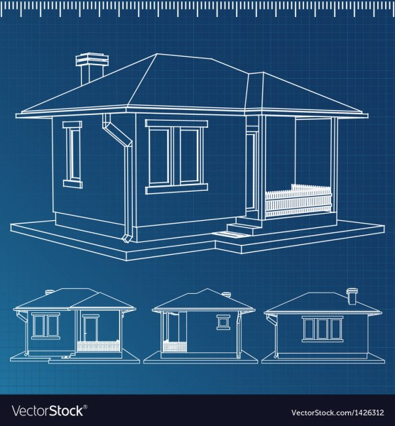 House blueprint Royalty Free Vector Image   VectorStock House blueprint vector image
