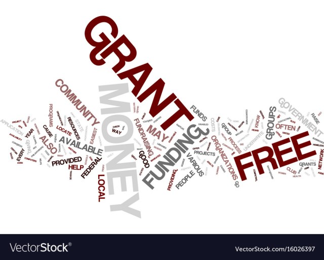 Free grant money text background word cloud Vector Image