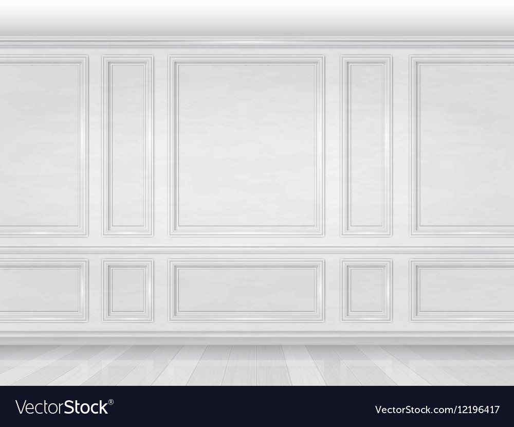 White Wooden Wall Panel Royalty Free Vector Image