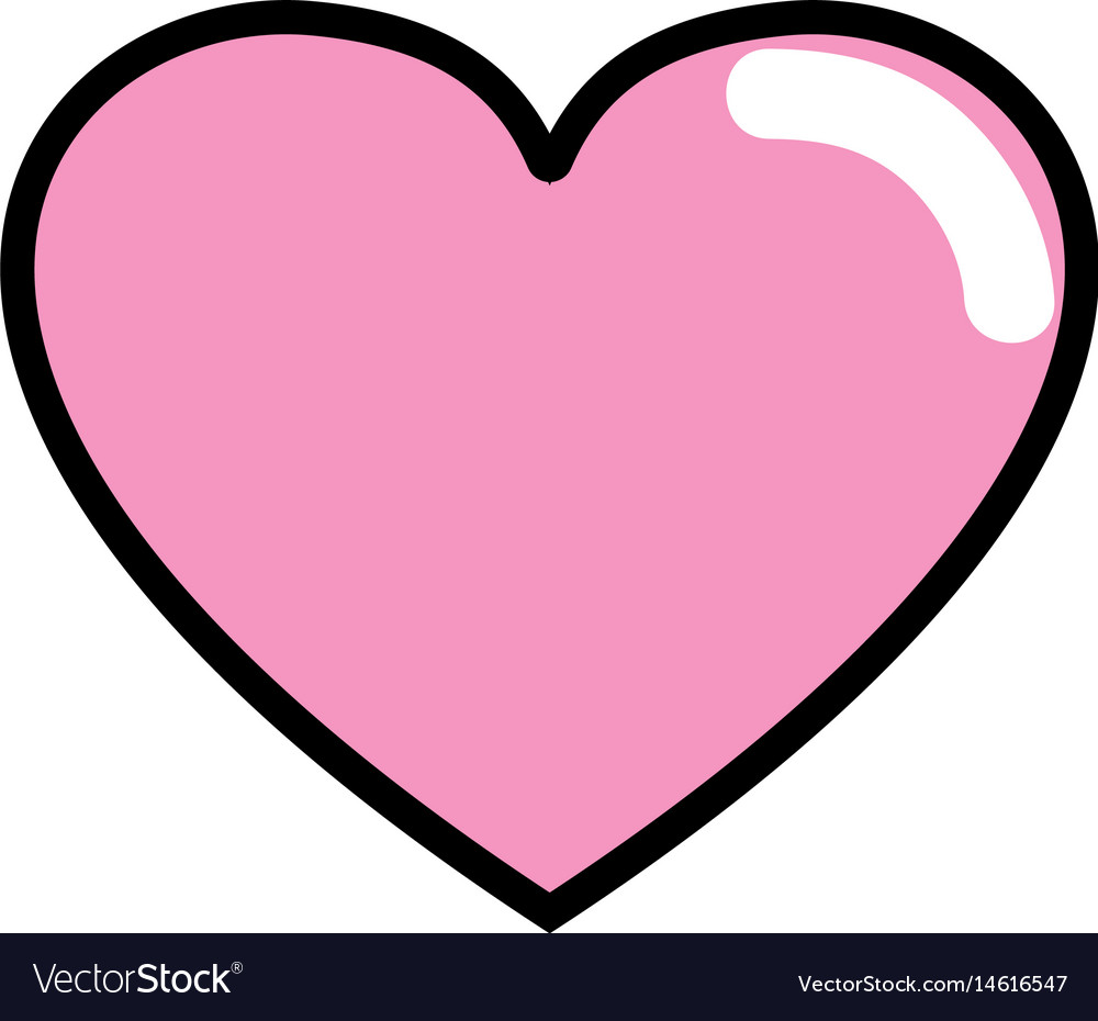 Download Cute heart love icon Royalty Free Vector Image
