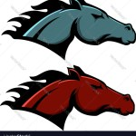 Horse Head Emblem Template Isolated On White Vector Image
