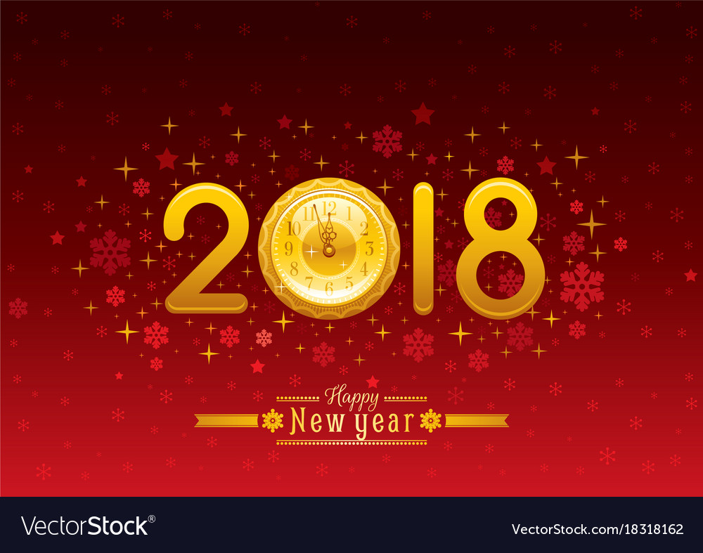 Happy new year 2018 placard banner template design Happy new year 2018 placard banner template design vector image
