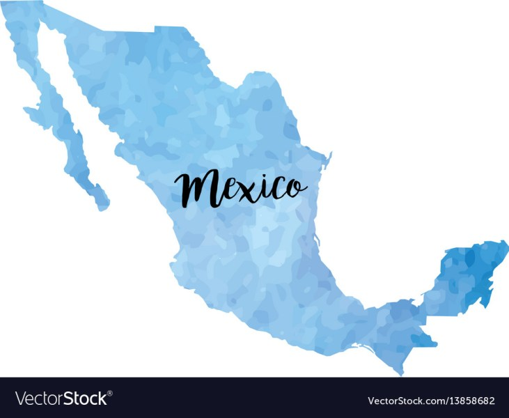 Abstract mexico map Royalty Free Vector Image   VectorStock Abstract mexico map vector image