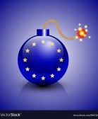 European crisis icon Royalty Free Vector Image