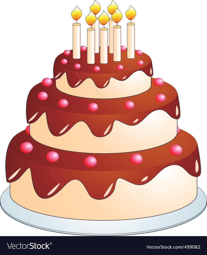 Cake Cartoon Royalty Free Vector Image Vectorstock