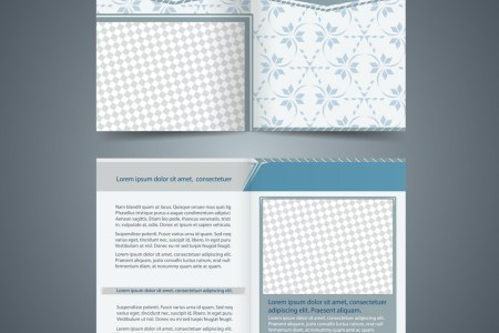Empty bifold brochure template Royalty Free Vector Image Empty bifold brochure template vector image