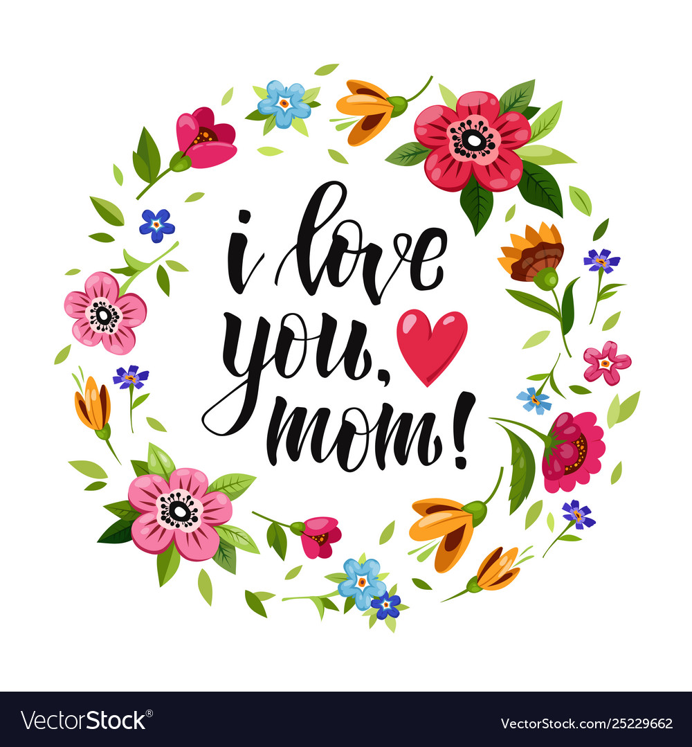 Download Happy mothers day card i love you mom Royalty Free Vector