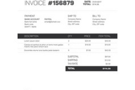 Invoice Vector Images  over 4 800  Invoice template   black and white version vector