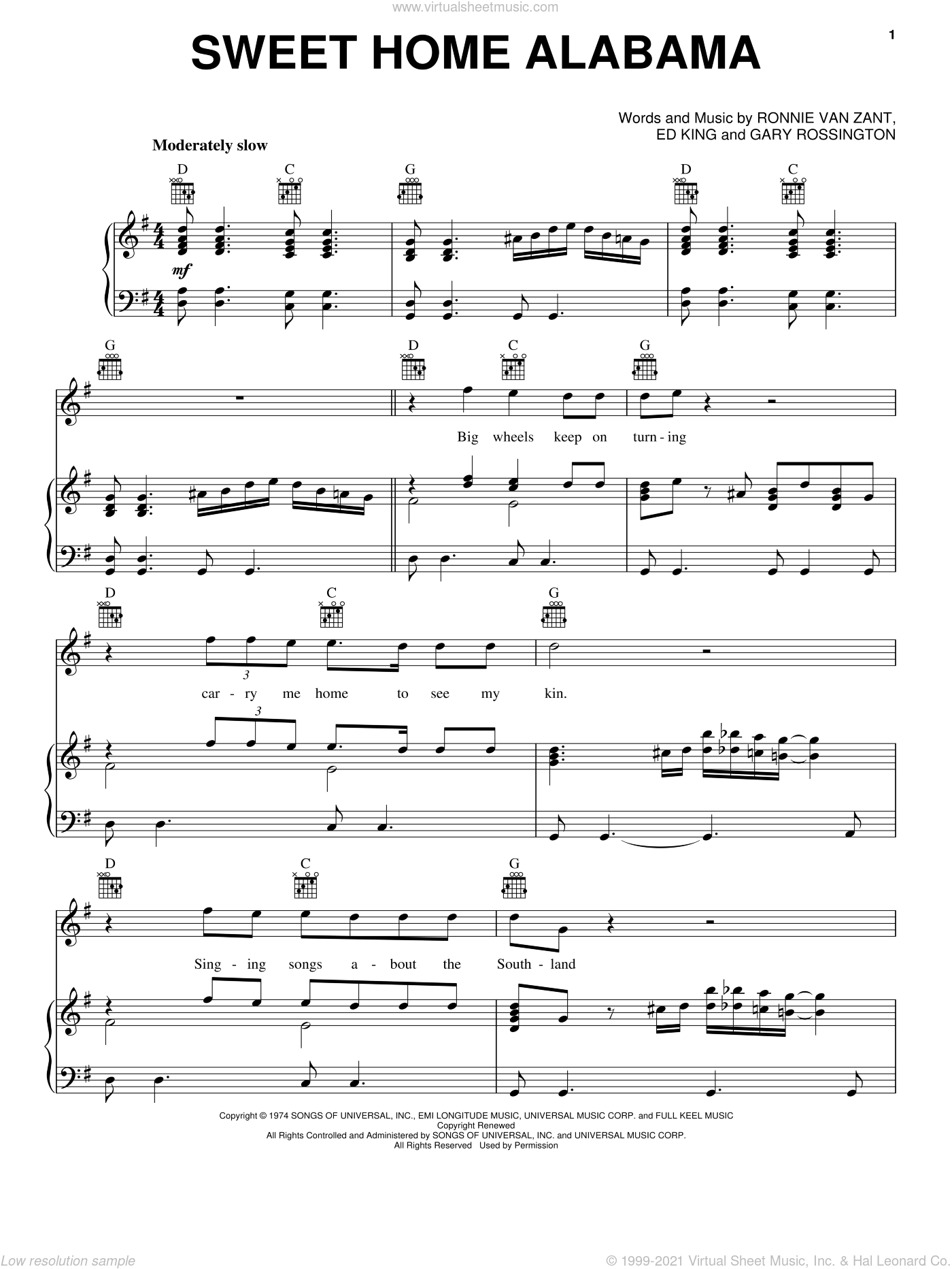 Learn how to play sweet home alabama (ver. Sweet Home Alabama Chords Pdf Sheet And Chords Collection
