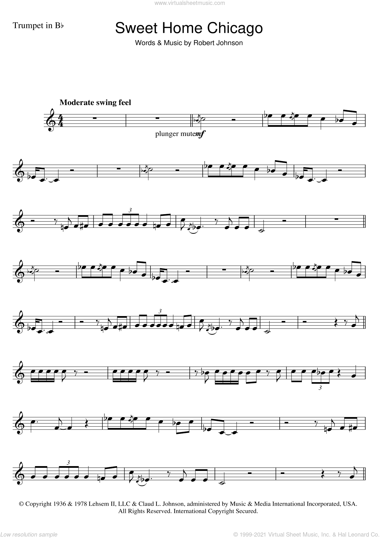 Download and print sweet home chicago sheet music for guitar tab by eric clapton from sheet music direct. Johnson Sweet Home Chicago Sheet Music For Trumpet Solo Pdf