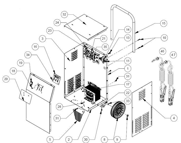 SE4020CA Schumacher Battery Charger Parts List