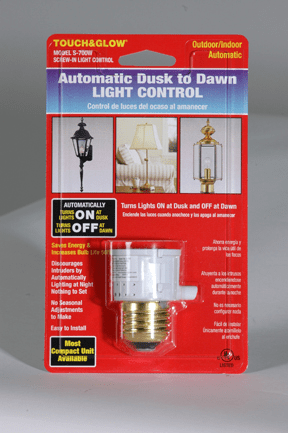 Two Pack DusktoDawn Light Control, White