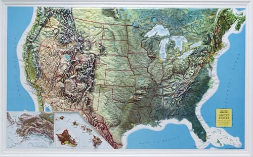 Rand McNally U S  Raised Relief Map from OnlyGlobes com Alternative Views