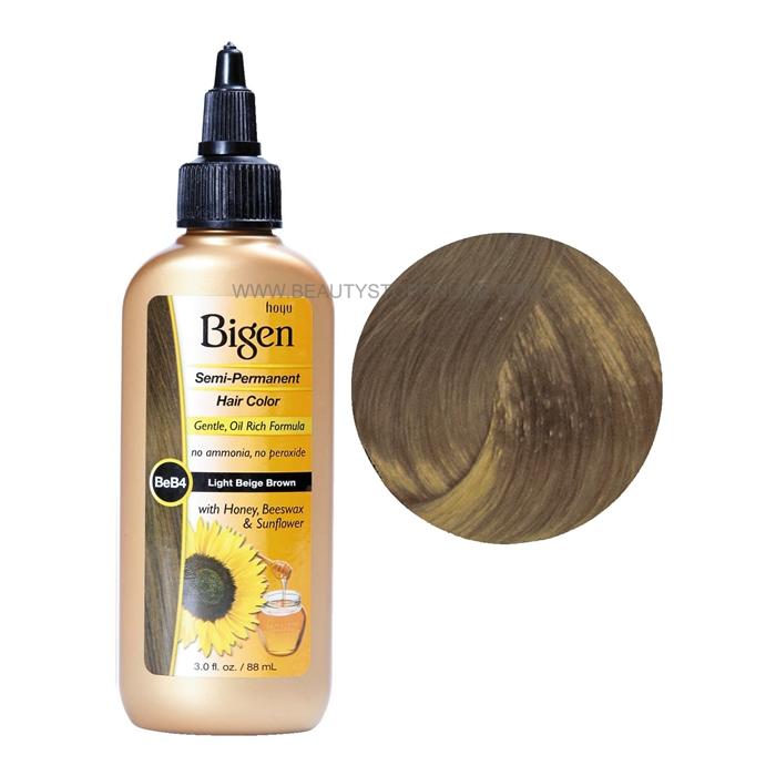 Bigen Light Beige Brown BeB4 Semi Permanent Hair Color
