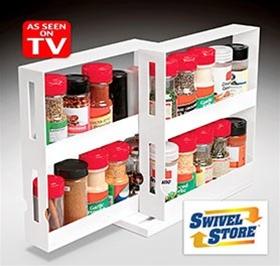 swivel store space saving organizer as seen on tv
