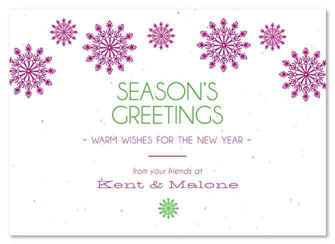 Plantable Business Holiday Cards Modern Snow By Green
