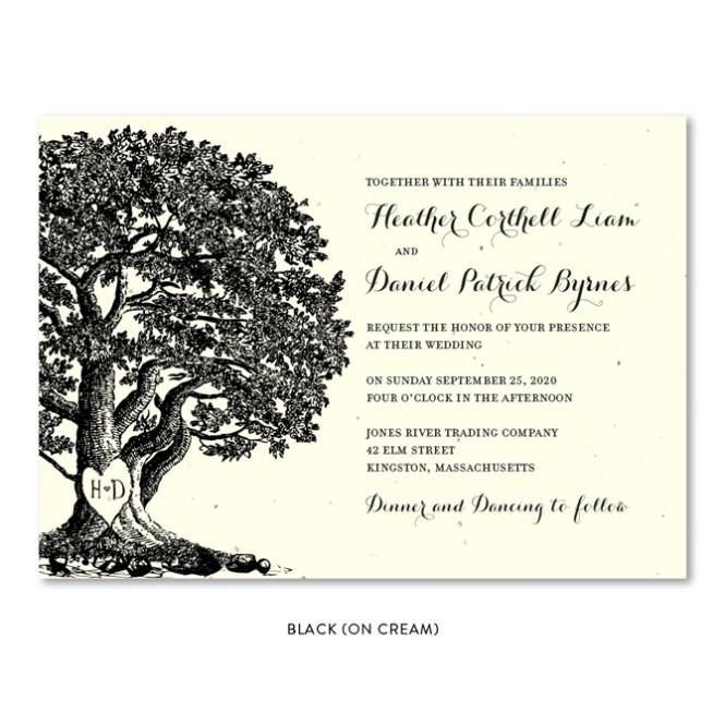 Vieux Oak Wedding Invitations Plantable